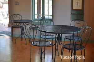 indoor seating at Cafe Botanica