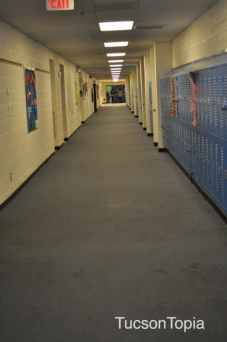 hallway and lockers at Pusch Ridge Christian Academy