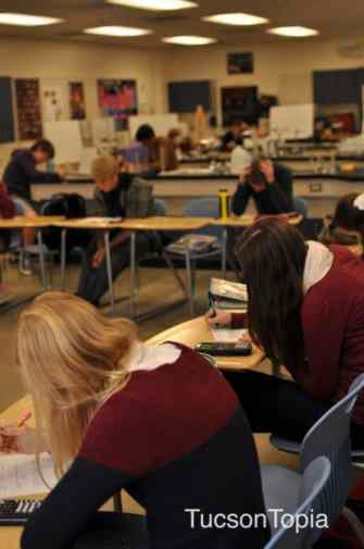students taking a test at Pusch Ridge Christian Academy