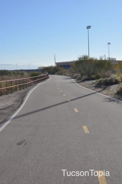 Rillito River Park walking_biking path is part of The Loop