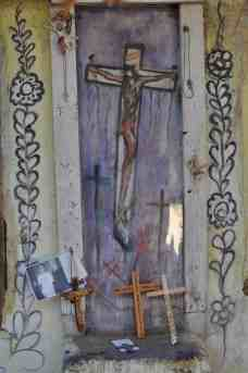 crucifix in chapel by DeGrazia
