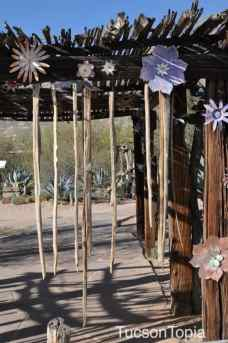 metal flowers at DeGrazia Gallery in the Sun