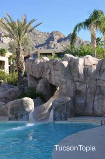 143 foot waterslide at Hilton Tucson El Conquistador