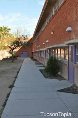 University High School walkway