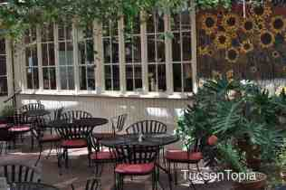 peaceful outdoor seating at Cafe a la C'Art