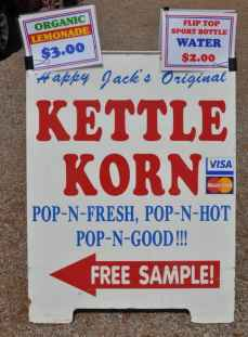Free Kettle Korn Samples at Apple Annie's