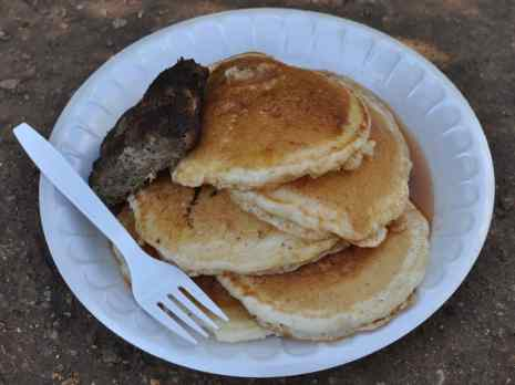 all-you-can-eat pancake breakfast at Apple Annie's