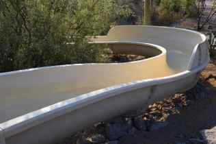 curve of waterslide at Ritz-Carlton Dove Mountain