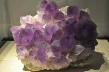 purple crystals at Flandrau Science Center
