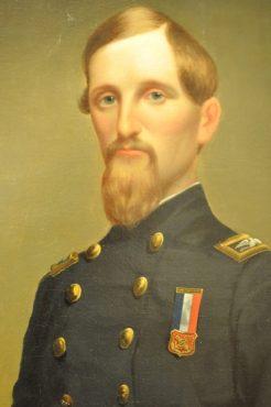 military man at UA Museum of Art