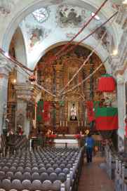 Inside Mission San Xavier del Bac