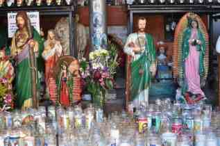candles at Mission San Xavier del Bac