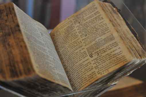open Bible at Mission San Xavier del Bac