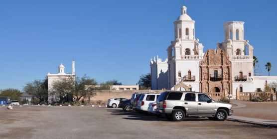 parking at Mission San Xavier del Bac