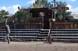 seats for the Pinnacle Peak Pisteleros stunt show