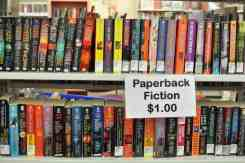 more paperback fiction at the Book Barn