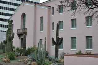 pink courthouse in Downtown Tucson