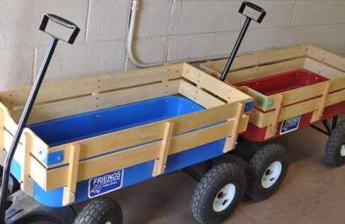 wagons at the Book Barn