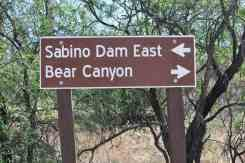 Sabino Dam East Sign