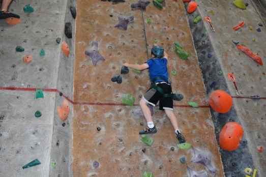 climbing wall at Rocks and Ropes