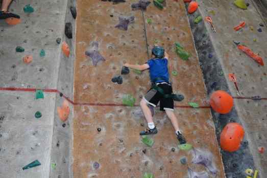 climbing wall at Rocks and Ropes