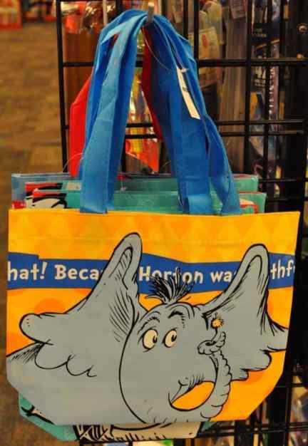 Dr Seuss bags at Bookmans