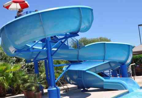 97-foot waterslide at Tucson Country Club