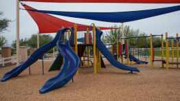 covered playground at Heritage River Park