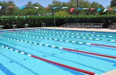 salt water lap pool at Tucson Country Club