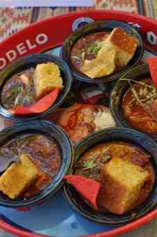 chili and cornbread at Savor Food & Wine Festival