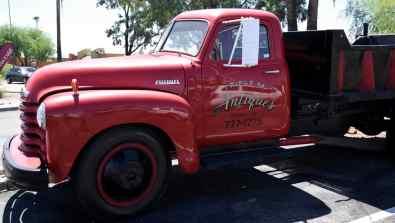 antique red truck speedway tucson