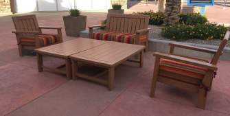 seating area at Tucson Premium Outlets