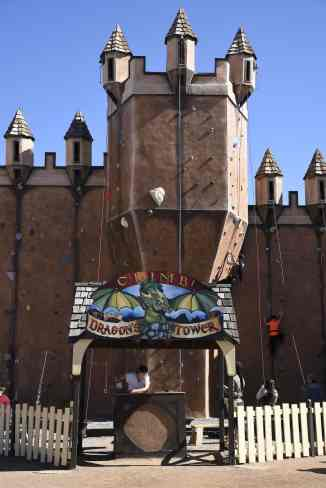 Dragon_s Tower climbing wall at Arizona Renaissance Festival