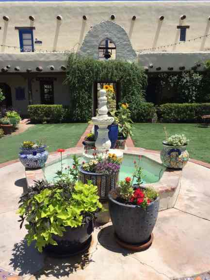 bell and courtyard at Hacienda Del Sol Tucson