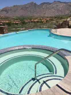 new pool at Hacienda Del Sol Guest Ranch Resort