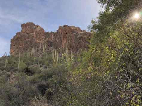 sunshine and boulders on Ventana Canyon Trail
