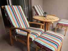 colorful balcony seating four seasons scottsdale