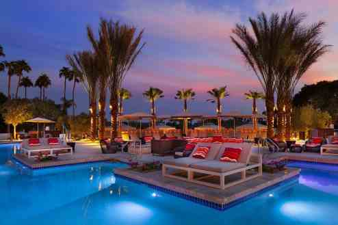 Phoenician VIP Pools Sunset Scottsdale