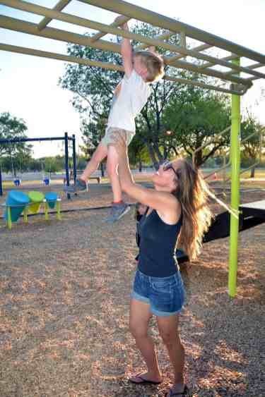 monkey bars playground Udall Park Tucson