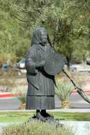 sculpture woman Udall Park