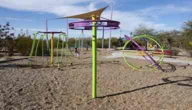 neon playground Purple Heart Park