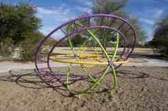 spinning gyroscope playground Purple Heart Park