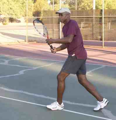 tennis player Fort Lowell Park