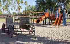 wagon slides playground Fort Lowell Park