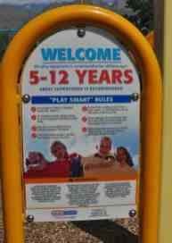 playground rules ages 5 to 12 McDonald Park Tucson