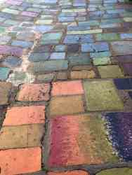 colored cobblestones Balboa Park