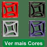 Elementos Vazados Esmaltados Estrela