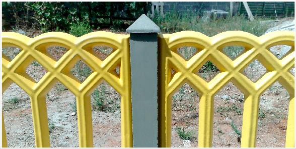 Capitel ou Chapéu para Poste ou Mourão de Concreto