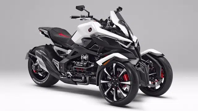 Honda revela triciclo híbrido que faz curvas como moto
