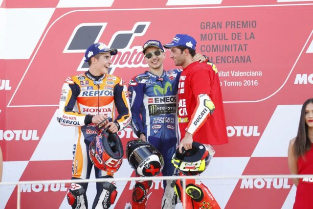 Pódio em Valência: Lorenzo, Márquez e Iannone